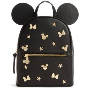 Disney X Primark Gold Studded Black mini Backpack